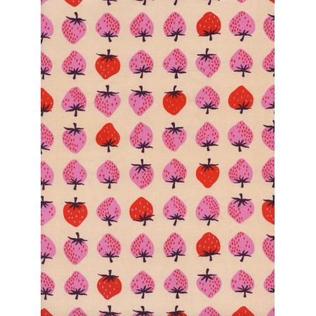 K3040-001 Yours Truly - Strawberry - Peach Fabric
