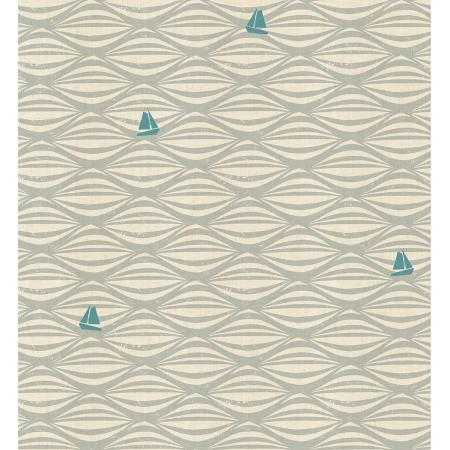 LV104-FO3U By the Seaside - Ahoy - Fog Unbleached Fabric