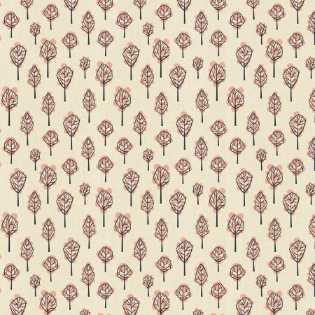 LV203-NE3U In The Woods - Beech Tree - Neutral Unbleached Fabric