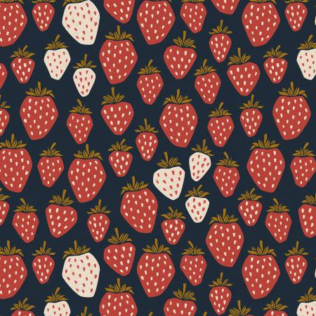 LV500-SN7UC Under the Apple Tree - Queen of Berries - Starry Night Unbleached Canvas Fabric