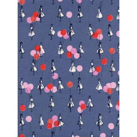 M0045-001 Jubilee - Balloons - Grey Unbleached Cotton Fabric