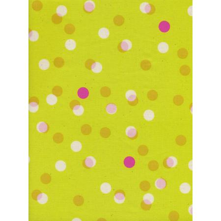 M0047-004 Jubilee - Party Lights - Yellow Unbleached Cotton Fabric