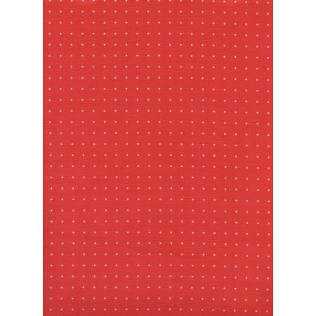 M0055-003 Kicks - Cleats - Red Unbleached Cotton Fabric
