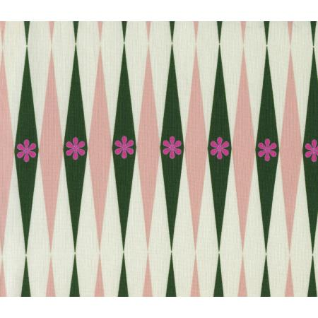 M0015-002 Playful - Backgammonish - Green/Natural Fabric