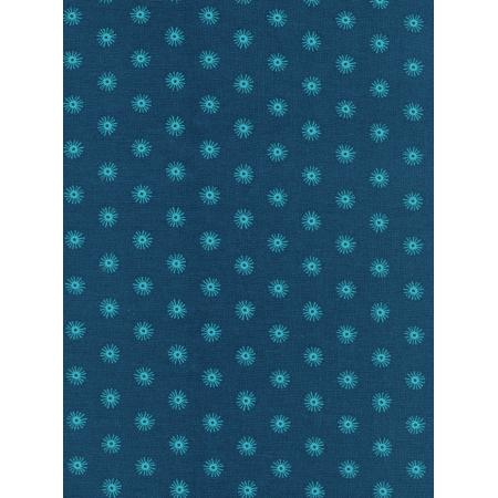 R1952-001 Kujira & Star - Sea Urchin - Deep Fabric