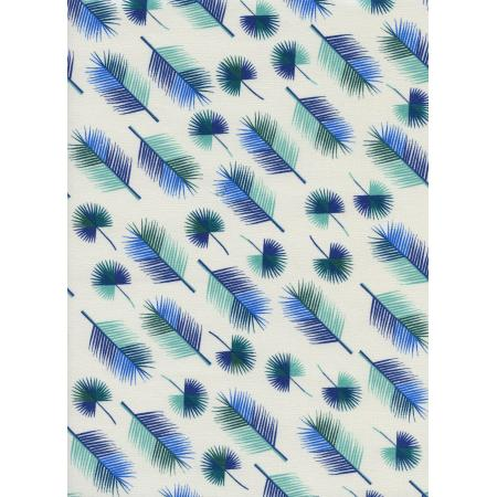 R1958-002 Lagoon - Unbeleafable - Blue Fabric