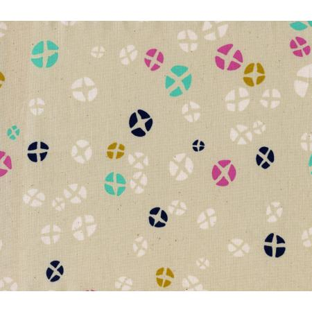 R1914-001 Mochi - Hot Cross Buns - Natural Unbleached Cotton Fabric