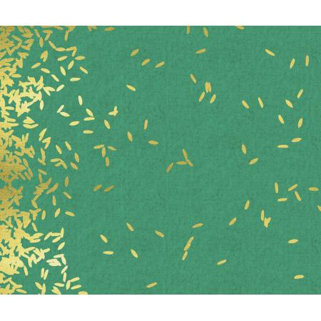 R1918-012 Mochi - Scattered - Mint Canvas Fabric