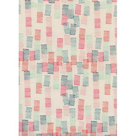 R1967-002 Paper Cuts - Toami - Spearmint Unbleached Cotton Fabric