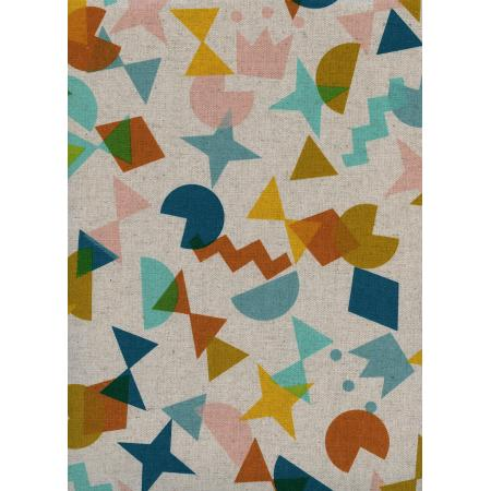 R1969-022 Paper Cuts - Shape Up - Topaz Canvas Fabric