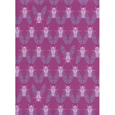 R1937-001 Raindrop - Cicada Song - Dark Plum Fabric