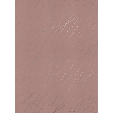 R1939-003 Raindrop - Precipitation - Blush Metallic Fabric
