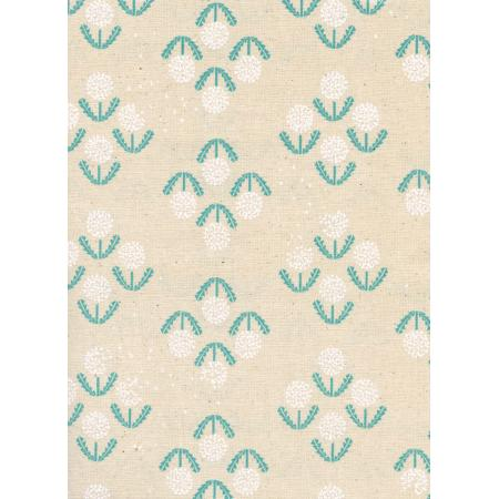 R1919-002 Zephyr - Puff - Teal Unbleached Cotton Fabric