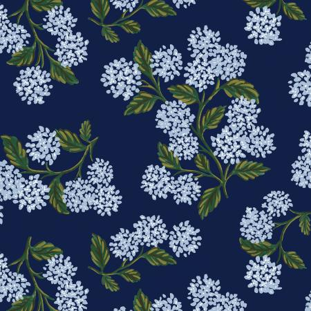 RP201-NA7K Meadow - Hydrangea - Navy Knit Fabric 1