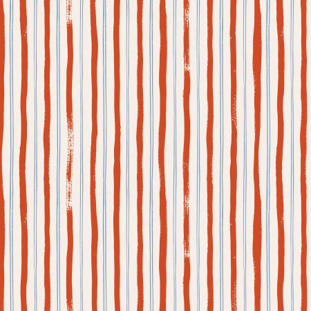 RP207-RE3 Meadow - Stripes - Red Fabric 1