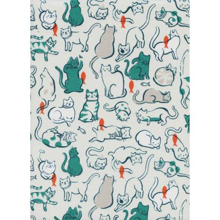 S2025-002 Cat Lady - Schmitties - Teal Fabric