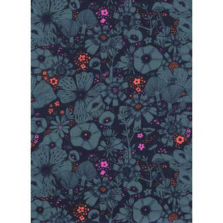 S2026-003 Cat Lady - Purrfect Hiding Spot - Navy Fabric