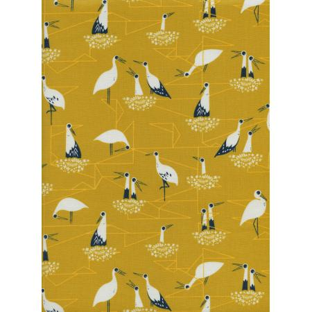 S2034-001 From Porto With Love - Stork Nest - Yellow Fabric