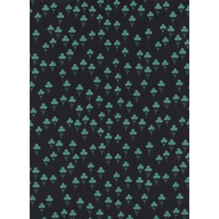 S2073-002 Front Yard - Clovers - Teal Fabric