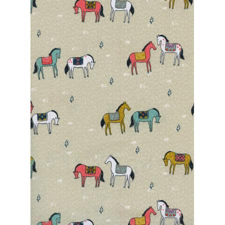 S2019-002 Honeymoon - Horseback - Neutral Pearl Pigment Fabric