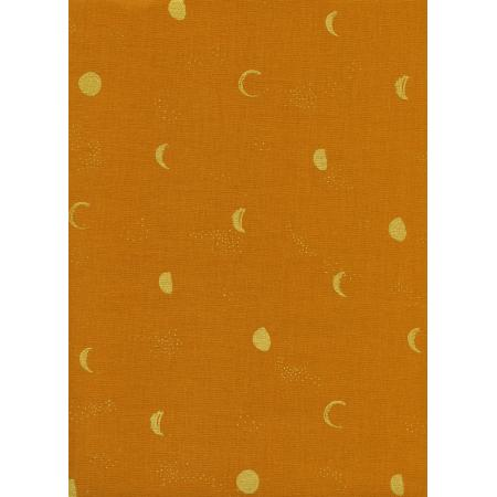 S2067-003 Santa Fe - Moon Phase - Clay Metallic Fabric