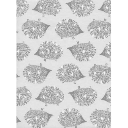 S2046-002 Sleep Tight - Prickles - Grey White Pigment Fabric