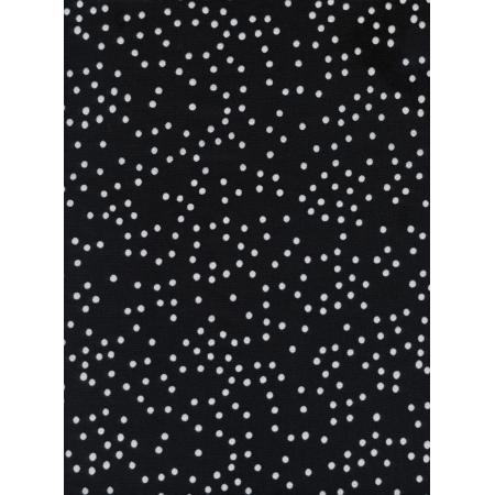 S2051-002 Sleep Tight - Stardust - Pearl Black Unbleached Cotton Pearlescent Fabric
