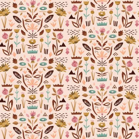 ST104-BL1 In Bloom - Floral Garden - Blush Fabric 1
