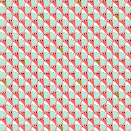 VB103-DP2M Mountains, Rocks, and Pebbles - Mountian Dog - Dusk Pink Metallic Fabric 1