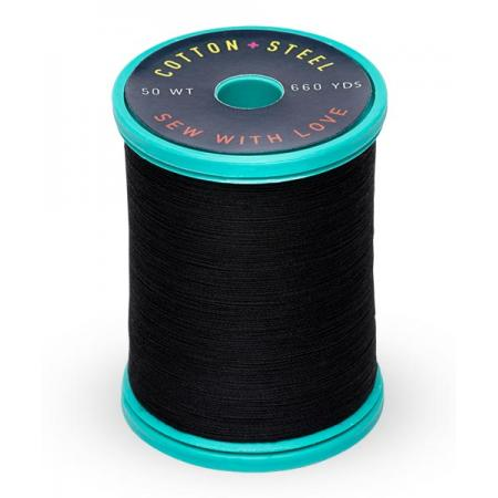 753-1005 Black 50 Wt. Cotton Thread Spool